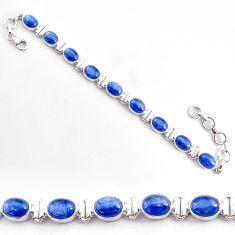 925 sterling silver 28.85cts natural blue kyanite tennis bracelet jewelry t2573