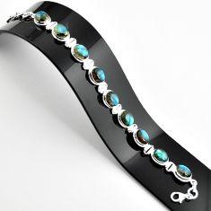 925 sterling silver 39.01cts natural blue labradorite tennis bracelet r39077