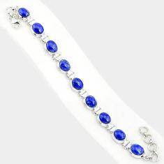 925 sterling silver 39.01cts natural blue lapis lazuli tennis bracelet r84296