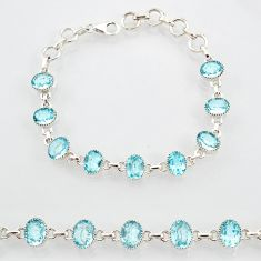 925 sterling silver 20.84cts natural blue topaz tennis bracelet jewelry r87085