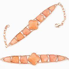 925 sterling silver natural pink opal 14k gold bracelet jewelry a76020 c13922