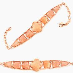 925 sterling silver natural pink opal fancy 14k gold bracelet a76017 c13935