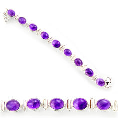 925 sterling silver 38.49cts natural purple amethyst tennis bracelet r27577