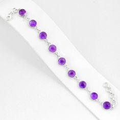 925 sterling silver 24.44cts natural purple amethyst tennis bracelet r94040