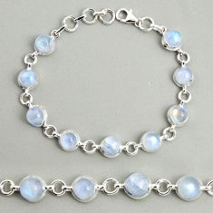 925 sterling silver 21.90cts natural rainbow moonstone tennis bracelet r25108