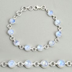 925 sterling silver 21.90cts natural rainbow moonstone tennis bracelet r25118