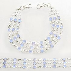925 sterling silver 15.06cts natural rainbow moonstone tennis bracelet r27565