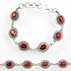 925 sterling silver 12.97cts natural red garnet tennis bracelet jewelry d44298