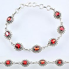 925 sterling silver 10.13cts natural red garnet tennis bracelet jewelry r54945