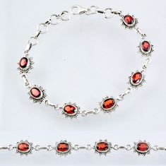925 sterling silver 9.92cts natural red garnet tennis bracelet jewelry r55020