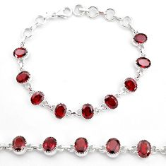 925 sterling silver 19.62cts natural red garnet tennis bracelet jewelry t4584