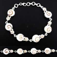 925 sterling silver 32.02cts natural white shiva eye bracelet jewelry r58716