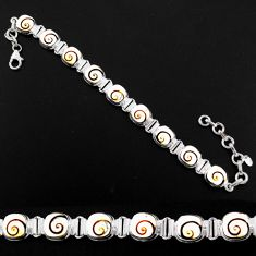 925 sterling silver 27.64cts natural white shiva eye bracelet jewelry r63595