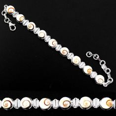 925 sterling silver 25.28cts natural white shiva eye cushion bracelet r63597