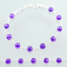 925 sterling silver 20.98cts tennis natural purple amethyst bracelet t40407