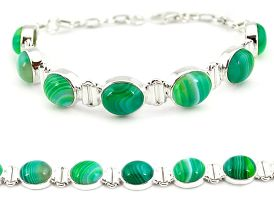925 sterling silver natural green botswana agate tennis bracelet jewelry j16962