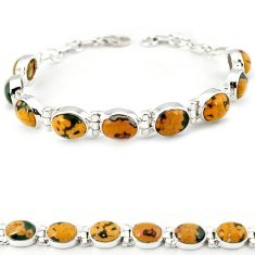 925 silver multi color ocean sea jasper (madagascar) tennis bracelet j18102