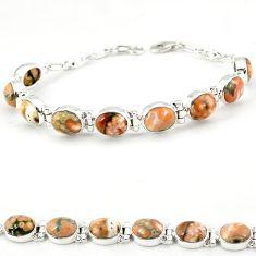 925 silver multi color ocean sea jasper (madagascar) tennis bracelet j18106
