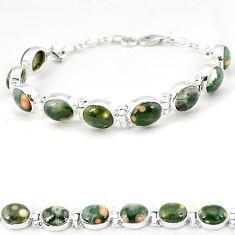 Ocean sea jasper (madagascar) oval 925 sterling silver tennis bracelet j18112