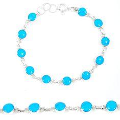 Fine blue turquoise enamel 925 sterling silver bracelet jewelry a50292 c13912
