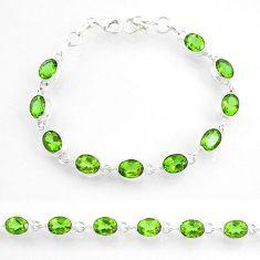 20.59cts green alexandrite (lab) 925 sterling silver tennis bracelet r72986
