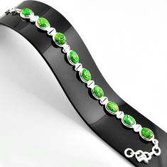 35.83cts green copper turquoise 925 sterling silver tennis bracelet r38861