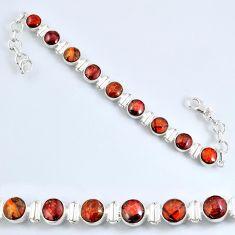 27.51cts natural ammolite (canadian) 925 silver tennis bracelet r60935