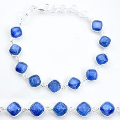 32.14cts natural blue kyanite 925 sterling silver tennis bracelet jewelry t16150