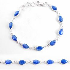 19.23cts natural blue kyanite 925 sterling silver tennis bracelet jewelry t2482