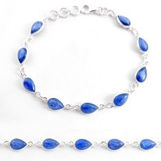 18.70cts natural blue kyanite 925 sterling silver tennis bracelet jewelry t2483