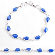 19.23cts natural blue kyanite 925 sterling silver tennis bracelet jewelry t2487