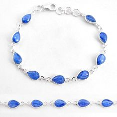 18.70cts natural blue kyanite 925 sterling silver tennis bracelet jewelry t2563