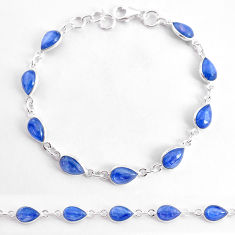 19.23cts natural blue kyanite 925 sterling silver tennis bracelet jewelry t2566
