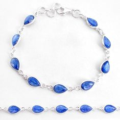 17.57cts natural blue kyanite 925 sterling silver tennis bracelet jewelry t2567