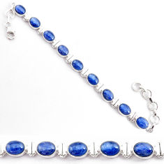 28.84cts natural blue kyanite 925 sterling silver tennis bracelet jewelry t2574