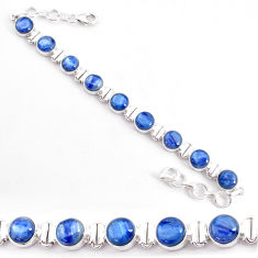 27.86cts natural blue kyanite 925 sterling silver tennis bracelet jewelry t2575