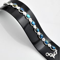 37.23cts natural blue labradorite 925 sterling silver bracelet jewelry r44322