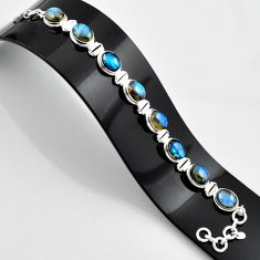34.32cts natural blue labradorite 925 sterling silver bracelet jewelry r44325