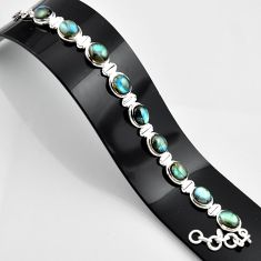 37.49cts natural blue labradorite 925 sterling silver bracelet jewelry r44326