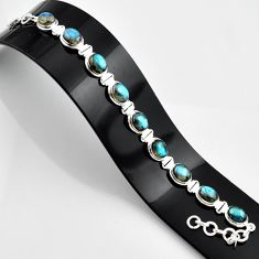 37.49cts natural blue labradorite 925 sterling silver bracelet jewelry r44332