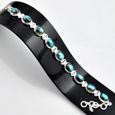 37.00cts natural blue labradorite 925 sterling silver bracelet jewelry r44333