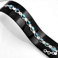 38.79cts natural blue labradorite 925 sterling silver bracelet jewelry r44756