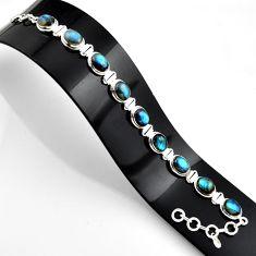 38.63cts natural blue labradorite 925 sterling silver bracelet jewelry r44757
