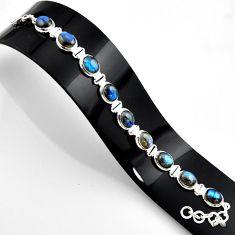 37.45cts natural blue labradorite 925 sterling silver bracelet jewelry r44758