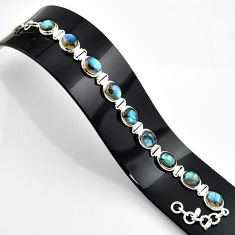 37.43cts natural blue labradorite 925 sterling silver bracelet jewelry r44760