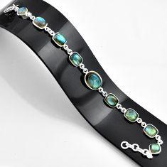 27.64cts natural blue labradorite 925 sterling silver bracelet jewelry r45005