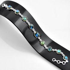 22.33cts natural blue labradorite 925 sterling silver bracelet jewelry r45006