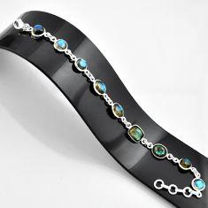 22.02cts natural blue labradorite 925 sterling silver bracelet jewelry r45007