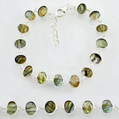 19.92cts natural blue labradorite 925 sterling silver bracelet jewelry r88291