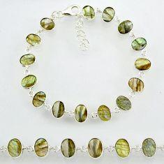 19.43cts natural blue labradorite 925 sterling silver bracelet jewelry r88292